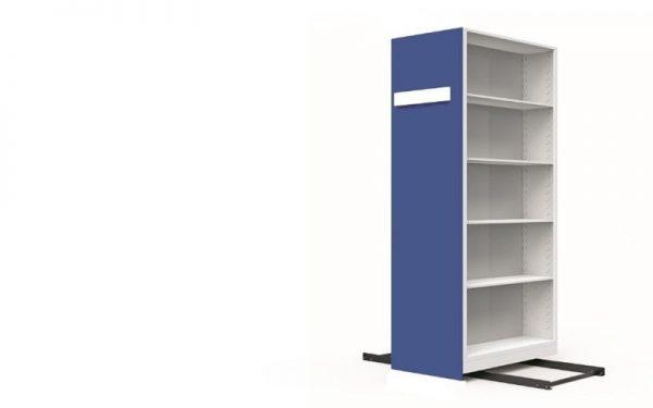 metal mavi tekli kompakt arşiv dolabı 1