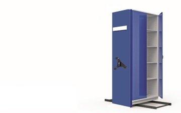 metal mavi ikili kompakt arşiv dolabı